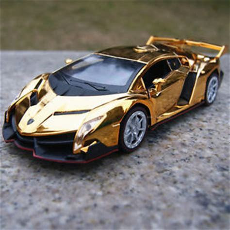 Lamborghini Veneno Alloy Diecast Model Cars 1 32 Toys Gifts Golden Yellow Plated   eBay