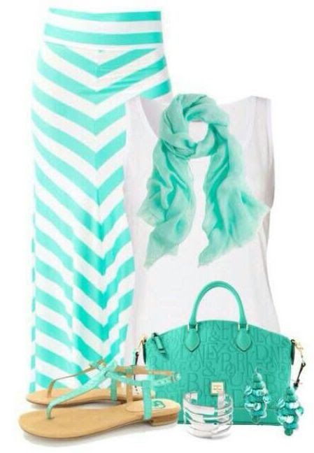 Cute Mint Outfits For Spring