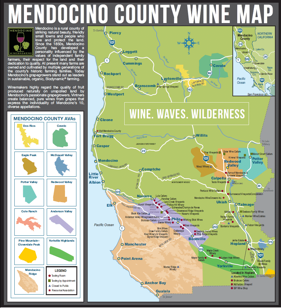 Mendocino Wine Country California Winery Advisor