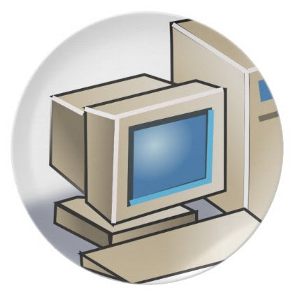 Retro Computer Melamine Plate