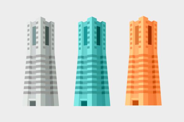ランドマークタワー 街建物系イラスト専門サイトtown Illust