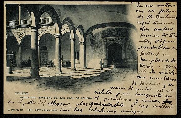 Hospital Tavera a comienzos del siglo XX. Postal de Cánovas