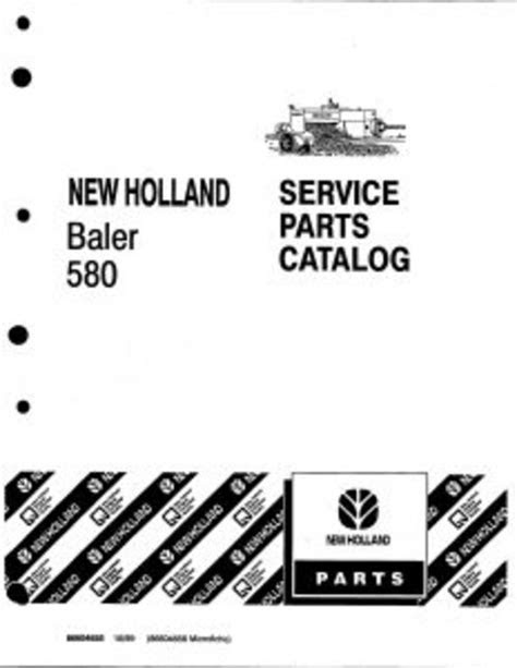 New Holland Baler 580 Service Parts Catalog PDF Tractor