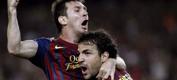 Messi y Cesc