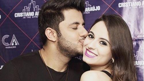 Reprodução/Instagram - Cristiano Araújo e a namorada Allana Moraes, mortos no acidente
