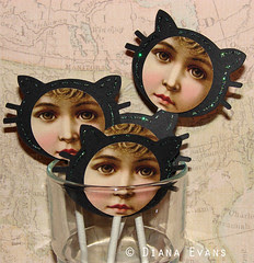 black cat cupcake toppers