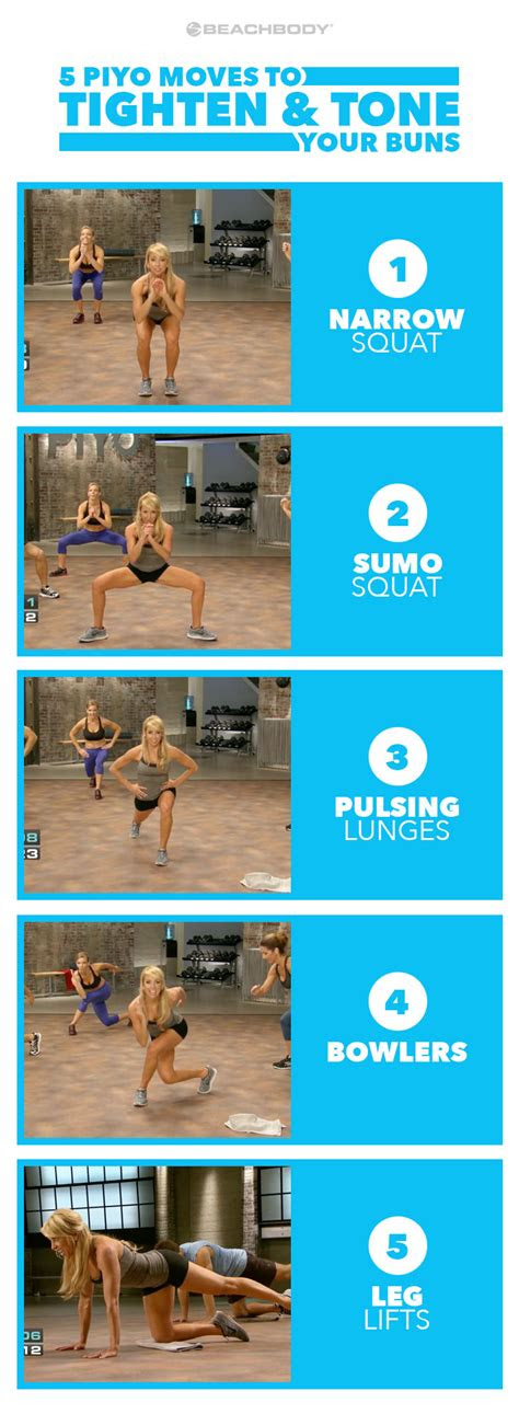 piyo workout moves  tone  buns  beachbody blog