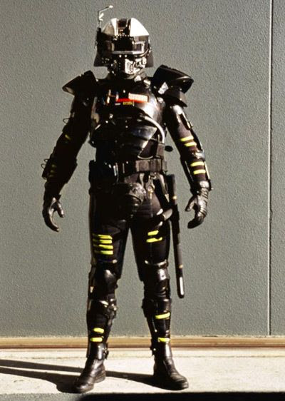 The final armor worn by Zachary Stone on SUPER FORCE.