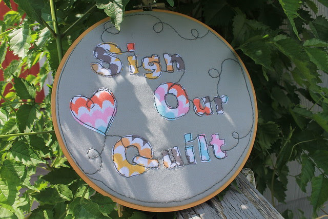 Quilted Applique Sign