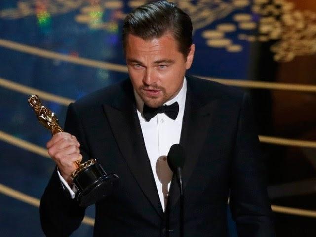 Vencedores do Oscar 2016 – Leonardo DiCaprio recebe Oscar de melhor ator