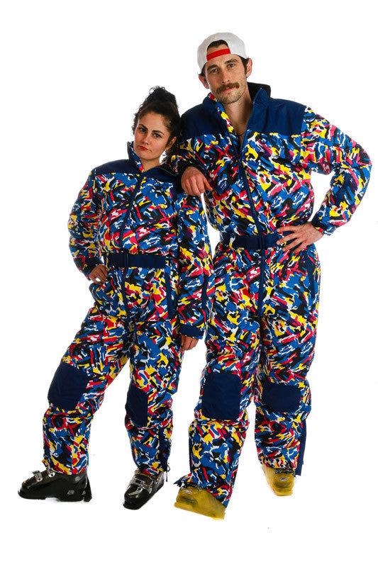 multicolored ski onesie  the vincent van snogh ski onesie