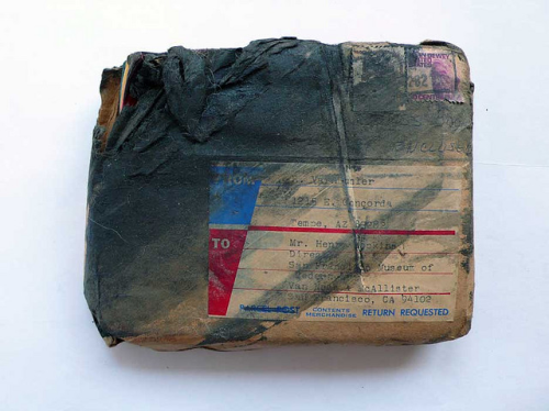 youmightfindyourself:  burned package sent to Henry T. Hopkins