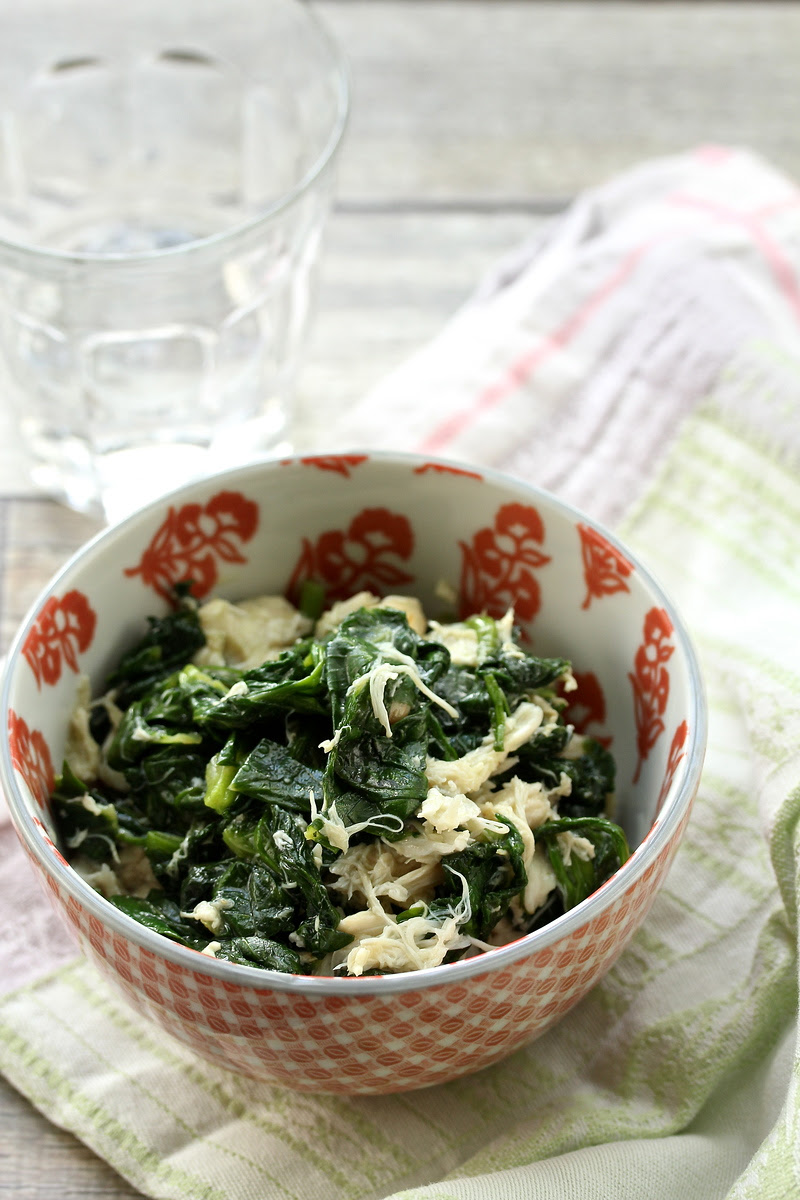 Stir-Fried Garlic Snow Pea Shoots with Crabmeat | Wok Wednesdays