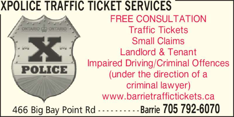 XPOLICE Traffic Ticket Services - Opening Hours - 466 Big ...