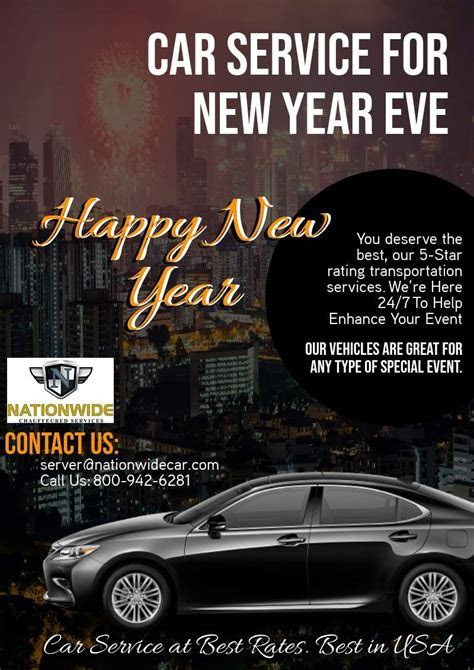 Best Car Service For New Year Eve   CALL US (800) 942 6281