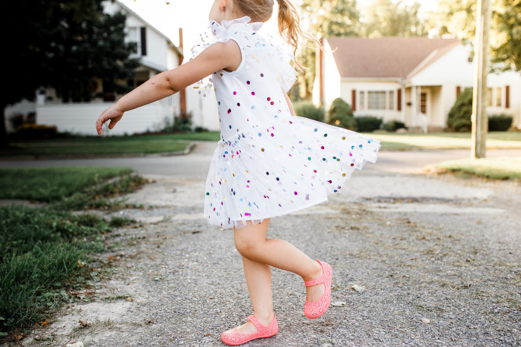 Arabella multicolor polka dot tulle party dress -- cuteheads.com