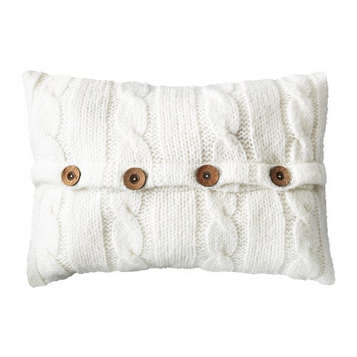 VINTER 2014 Cushion IKEA The polyester filling holds its shape and gives your body soft support. The buttons make the cover easy to remove.