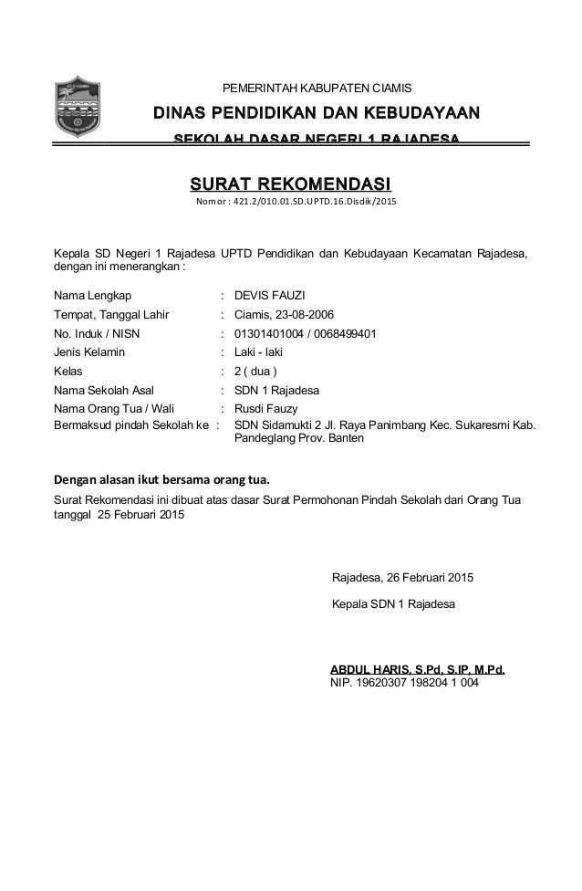 contoh surat izin sakit kantor contoh z