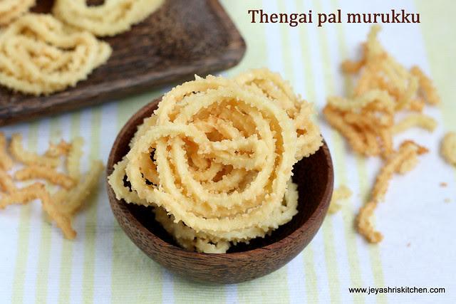 Thengai-pal-murukku