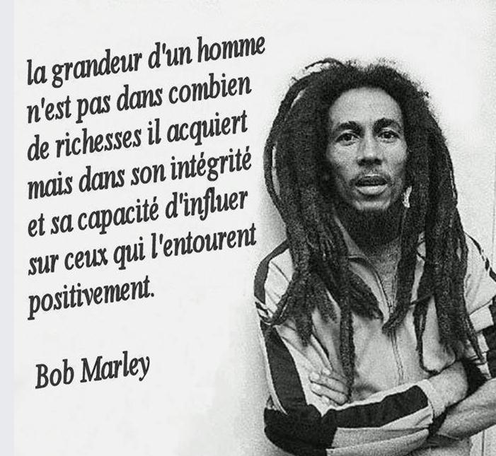 Bob Marley 18 Citations La Vache Rose
