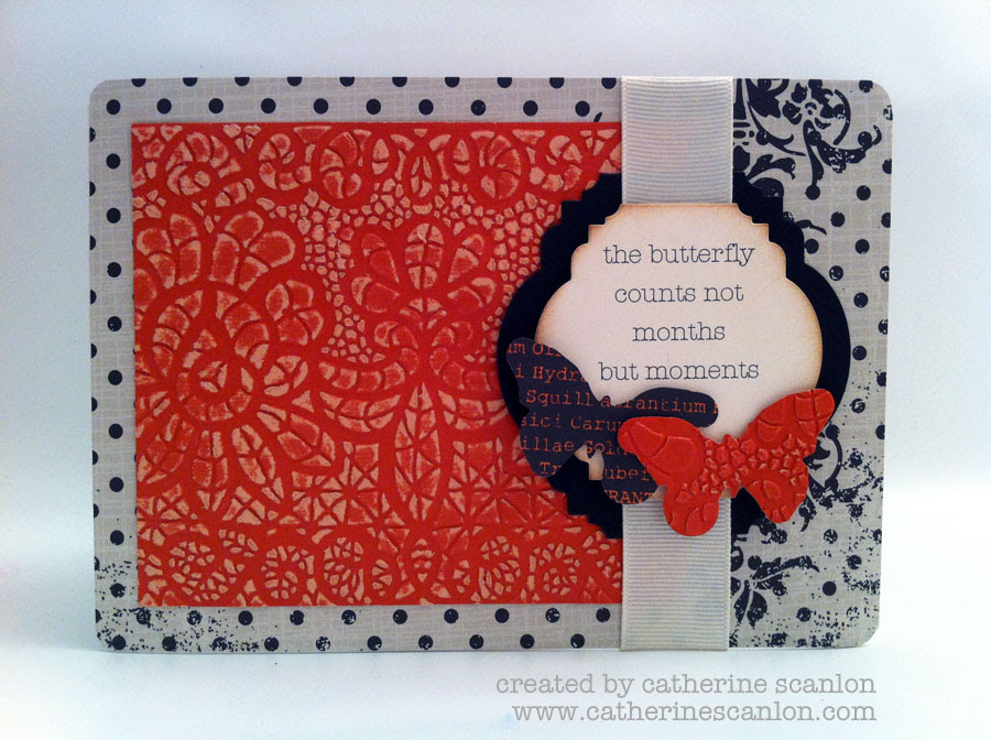 butterfly chain card by Catherine Scanlon for Sizzix