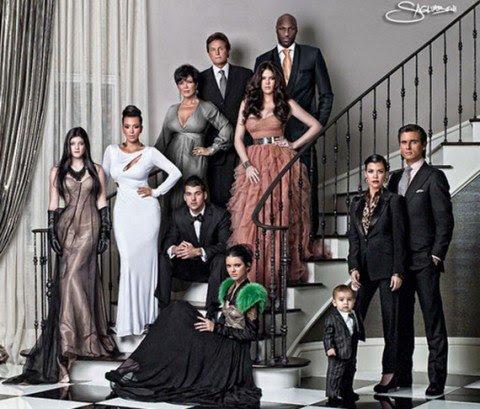 """Quantos homens em que """"Cartão de Natal"""" Kardashian são ainda """"na foto?"""""""