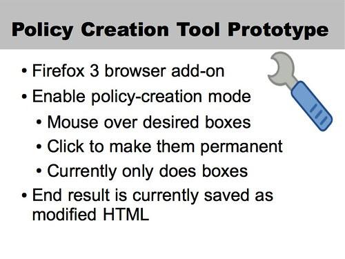 Policy Creation Tool Prototype