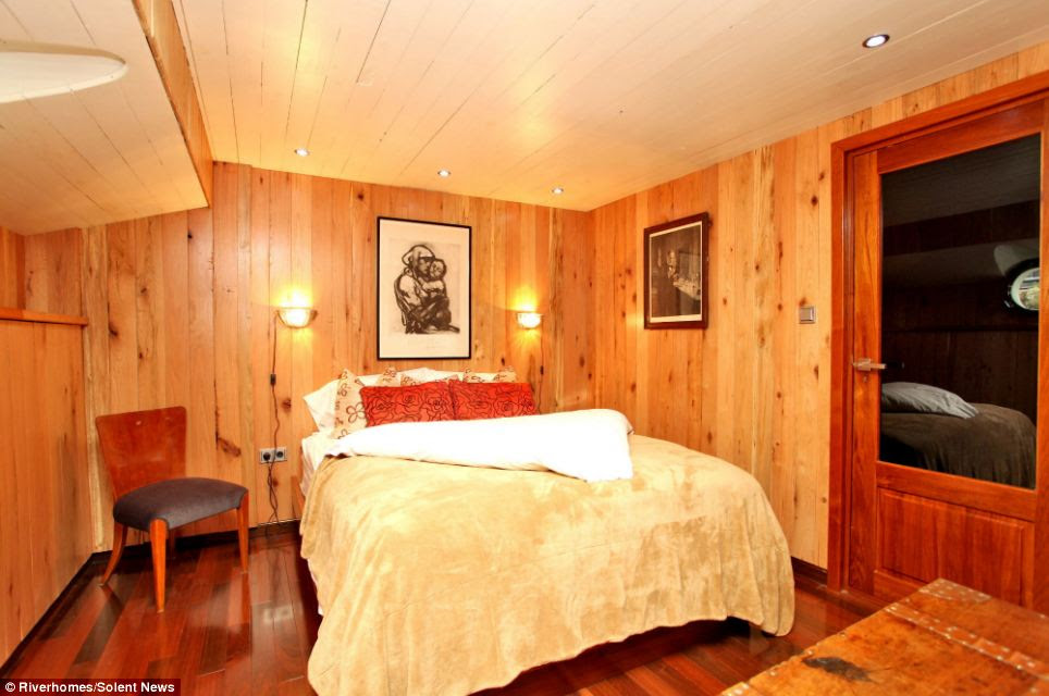 Plush: The houseboat has six bedrooms, pictured, as well as room to house three or four staff
