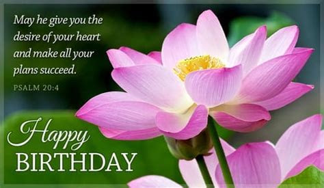 Free Happy Birthday Psalm 20:4 eCard   eMail Free