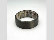 Buy Cheap Ring ? Carbon Fiber Ring with Elk antler liner, Men's Wedding Band