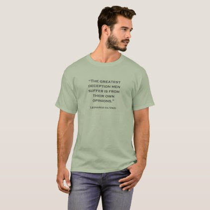 Quote Leonardo da Vinci 03 T-Shirt