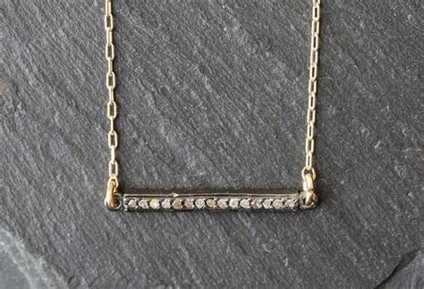 Pave Diamond Bar Necklace   Small ? Alexis Russell