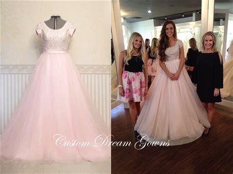 Romance Modest M524 Jessa Duggar Wedding Dress   Custom