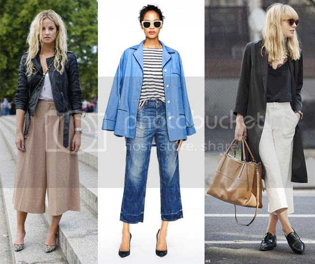 How To Wear Culottes, spring 2015 culottes trend, culottes street style