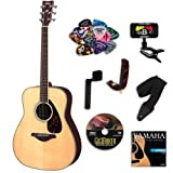 Yamaha FG730S Folk Acoustic Guitar BUNDLE w/ Legacy Accessory Kit(Tuner,Picks,DVD,... and Much More)