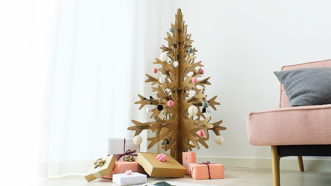 How to Make Adorable Christmas tree Out Of Cardboard Boxes?