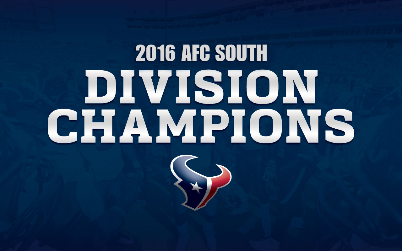 Image result for Texans 2016 AFC South champions