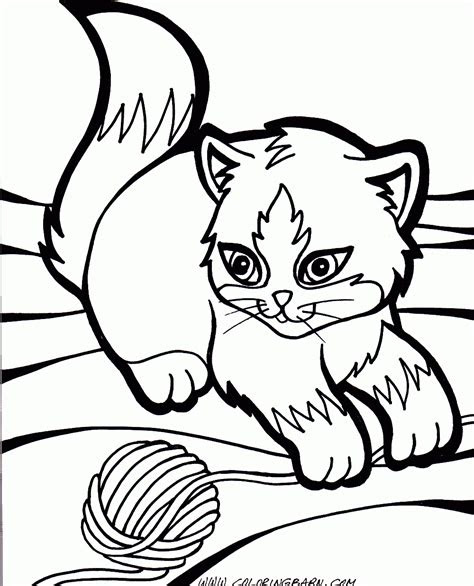 cute kitten coloring pages    print