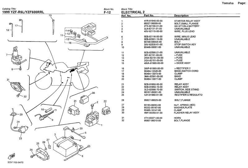 2005 Yamaha R6 Wiring Diagram