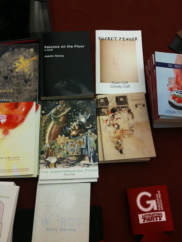 Table display at Chapbook Festival 2012 @ CUNY Grad Ctr
