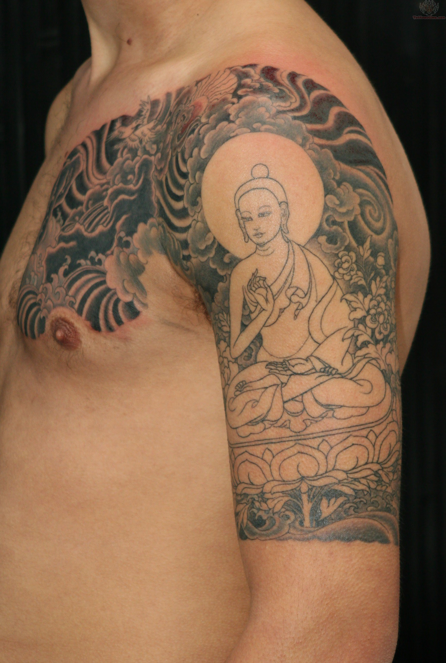 Buddha Half Sleeve Tattoo