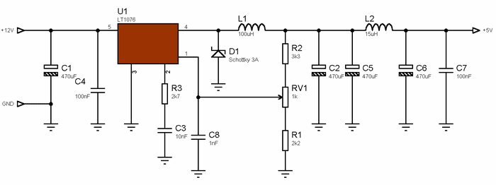 what circuit 5 v dc to 12 v dc convart