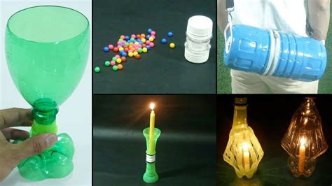 easy  quick plastic bottle recycling ideas diy