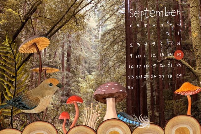 September Desktop Calendar
