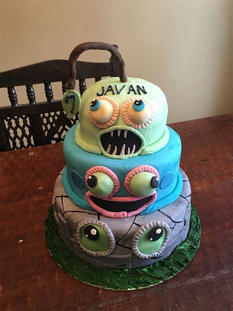 Javan's My Singing Monsters cake   Birthday Stuff