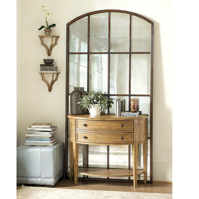 Amiel Arch Antiqued Leaner Mirror