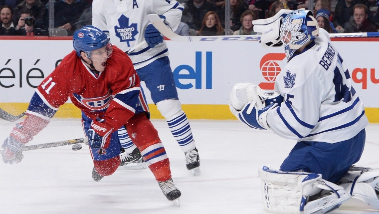 Brendan Gallagher et Jonathan Bernier