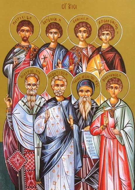 IMG STS. ANTHONY, Apollonius, Daniel, Isidore, Leontius, Maurice, Silouan, of Nicopolis in Armenia