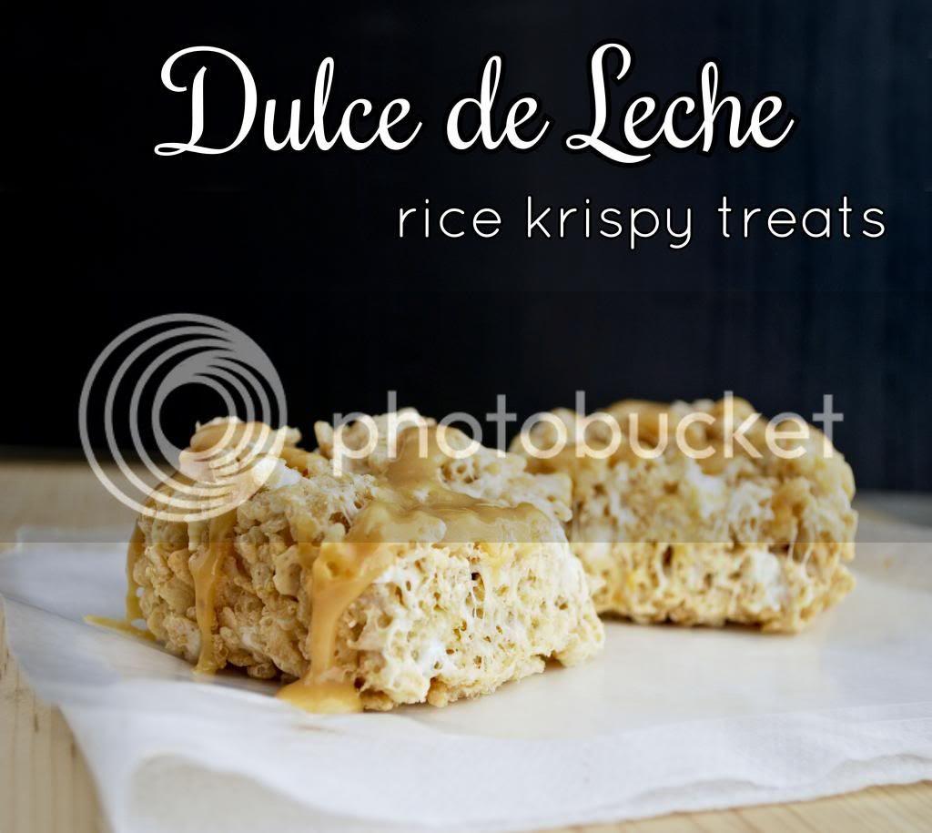 Dulce de Leche Rice Krispy Treats