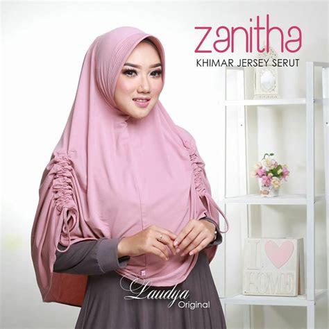 jilbab instan khimar jersey serut zanitha modern